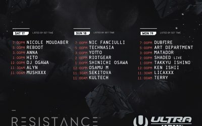 Ultra Japan Line-up