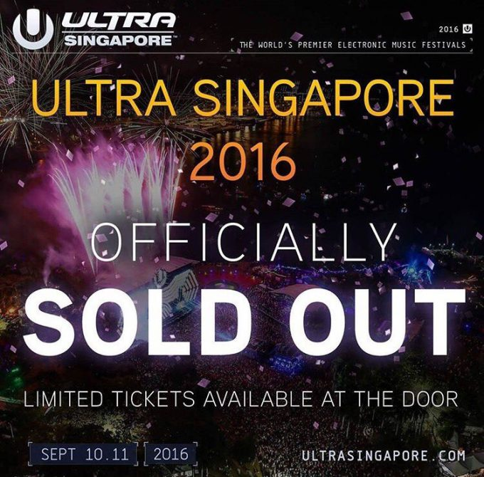 Ultra Singapore 2016 sold out