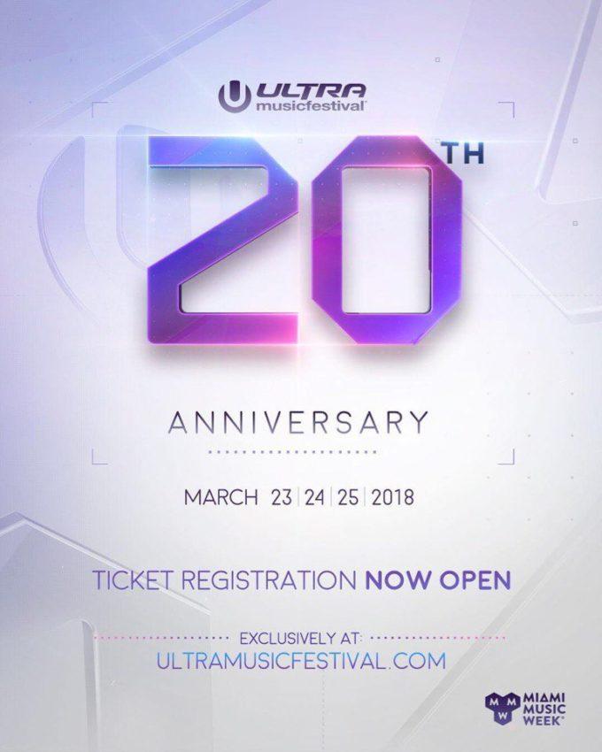 Открыта регистрация на покупку билетов Ultra Music Festival 2018