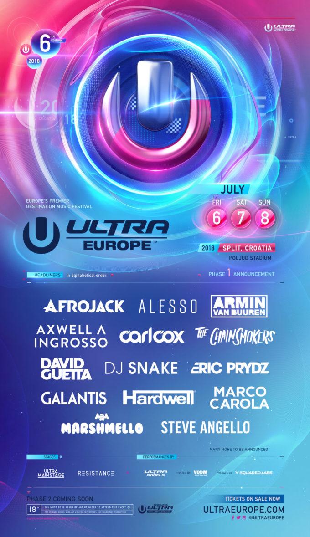 Ultra Europe 2018 — 1-я часть артистов оглашена